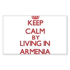 Keep Calm by living in Armenia Decal