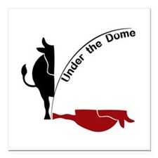 "Under the Dome Cow Square Car Magnet 3"" x 3"""