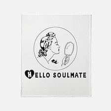 Hello Soulmate Retro Throw Blanket