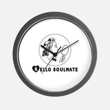 Hello Soulmate Retro Wall Clock