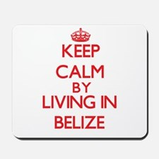 Keep Calm by living in Belize Mousepad