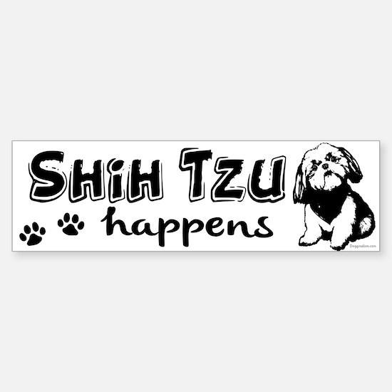 shih tzu happens Sticker (Bumper)