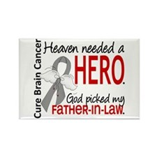 Brain Cancer Heaven Needed Hero 1 Rectangle Magnet