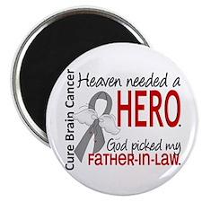 Brain Cancer Heaven Needed Hero 1.1 Magnet