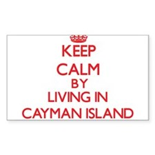 Keep Calm by living in Cayman Island Decal