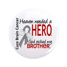 "Brain Cancer Heaven Needed 3.5"" Button (100 pack)"