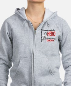 Brain Cancer Heaven Needed Hero Zip Hoodie