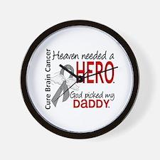 Brain Cancer Heaven Needed Hero 1.1 Wall Clock