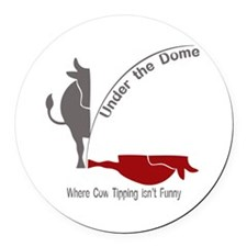 Under the Dome Cow Tipping Round Car Magnet