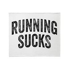Running Sucks Throw Blanket