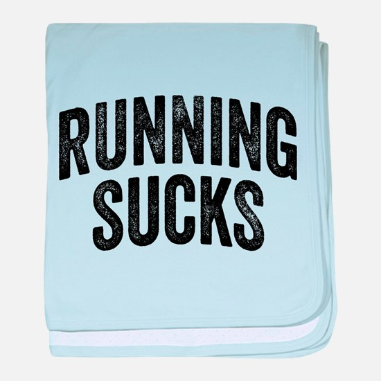 Running Sucks baby blanket