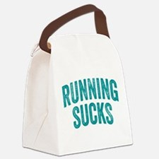 Running Sucks Canvas Lunch Bag