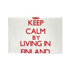 Keep Calm by living in Finland Magnets