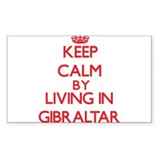 Keep Calm by living in Gibraltar Decal