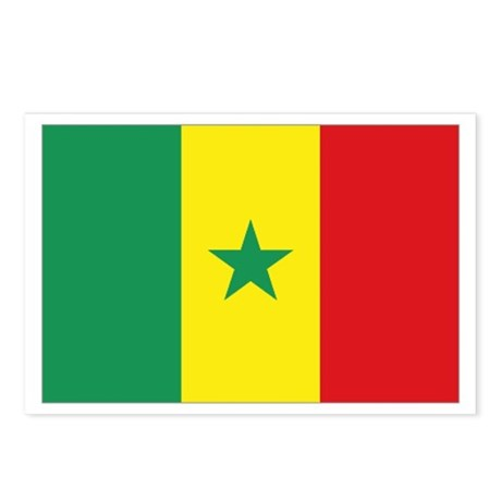 Flag Senegal Postcards (Package of 8)