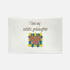 I love my autistic godd Rectangle Magnet (10 pack)