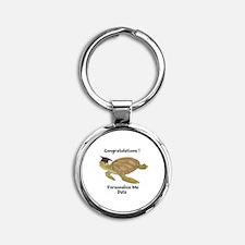 Personalized Sea Turtles Round Keychain