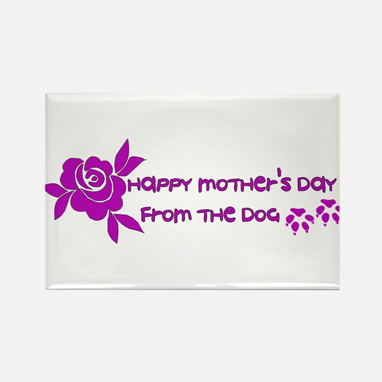 Happy Mother's Day From The Dog Rectangle Magnet