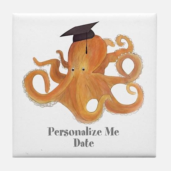 Graduation Octopus Tile Coaster
