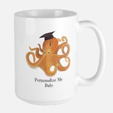 Graduation Octopus Large Mug