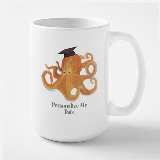 Graduation Octopus Large Mug