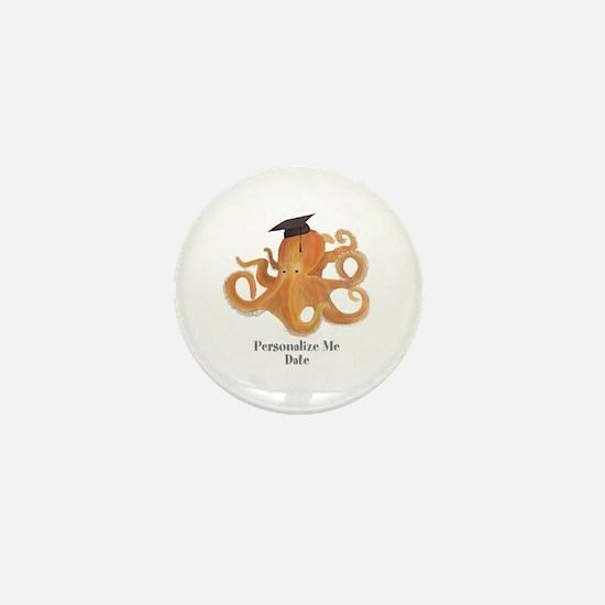Graduation Octopus Mini Button