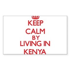 Keep Calm by living in Kenya Decal