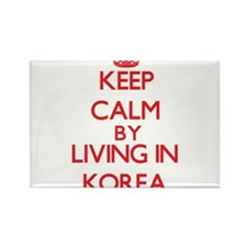 Keep Calm by living in Korea Magnets