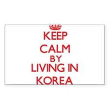 Keep Calm by living in Korea Decal