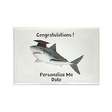 Graduation Shark Rectangle Magnet