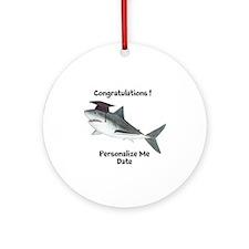 Graduation Shark Ornament (Round)