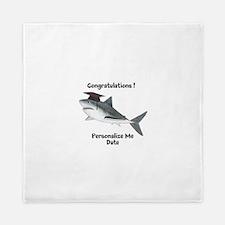 Graduation Shark Queen Duvet