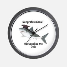 Graduation Shark Wall Clock