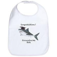 Graduation Shark Bib