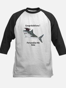 Graduation Shark Kids Baseball Jersey