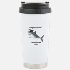 Graduation Shark Travel Mug