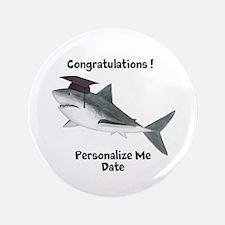 """Graduation Shark 3.5"""" Button"""