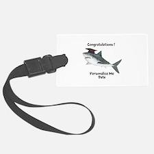 Graduation Shark Luggage Tag