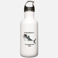 Graduation Shark Water Bottle