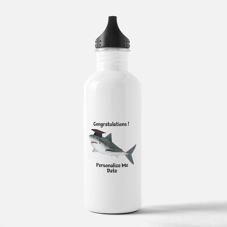 Graduation Shark Water Bottle
