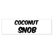Coconut Bumper Bumper Sticker
