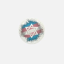 Transgender Pride Star of David Mini Button