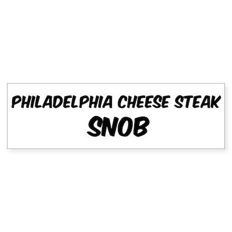 Philadelphia Cheese Steak Bumper Sticker