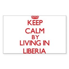 Keep Calm by living in Liberia Decal
