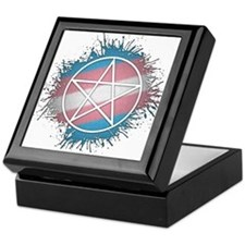 Transgender Pride Pentacle Keepsake Box