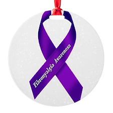 Fibro Awareness Ribbon Ornament