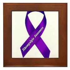 Fibro Awareness Ribbon Framed Tile