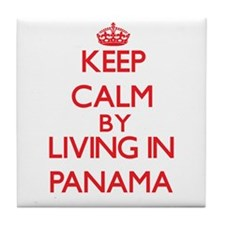 Keep Calm by living in Panama Tile Coaster