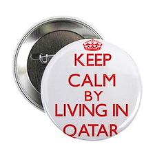 """Keep Calm by living in Qatar 2.25"""" Button"""