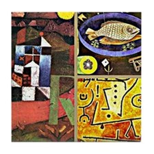 Klee Collage Tile Coaster